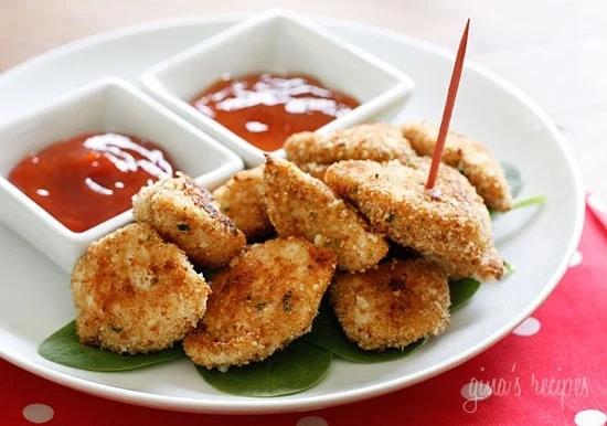 """""""Nuggets"""" de frango aoforno"""